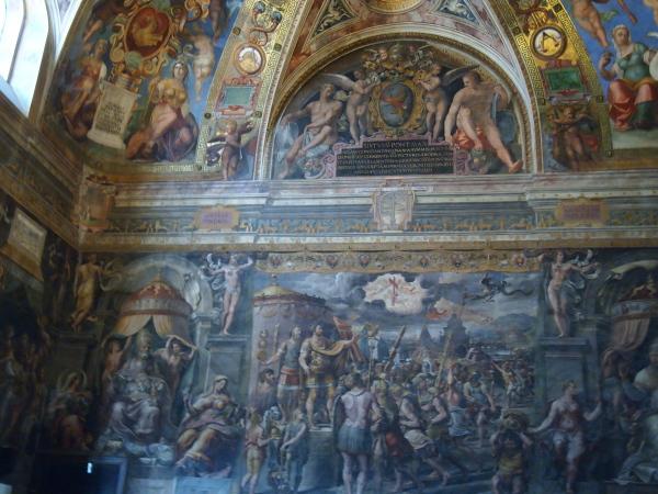 08バチカン美術館コンスタンティヌスの間「十字架の出現」