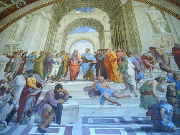 11バチカン美術館署名の間ラファエロ「アテナイの学堂」