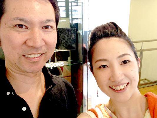 沖縄で美容院経営をなさっている男性のスタイリング