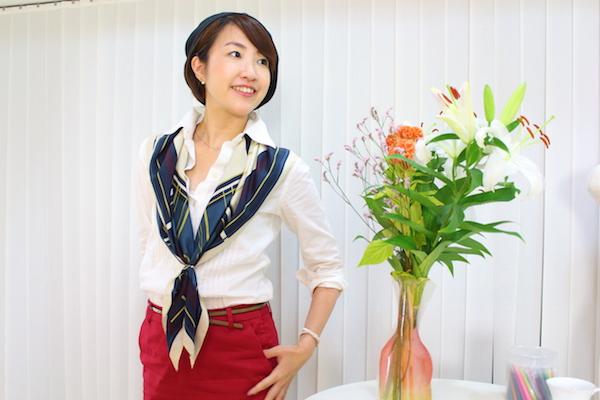 40代女性のコーディネート・花柄スカートを大人っぽく着回すコツ