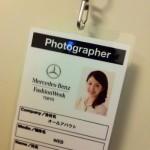 東京ファッションウィークのプレスパス到着