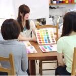 ファッションスクール生徒さんによるカラー診断会